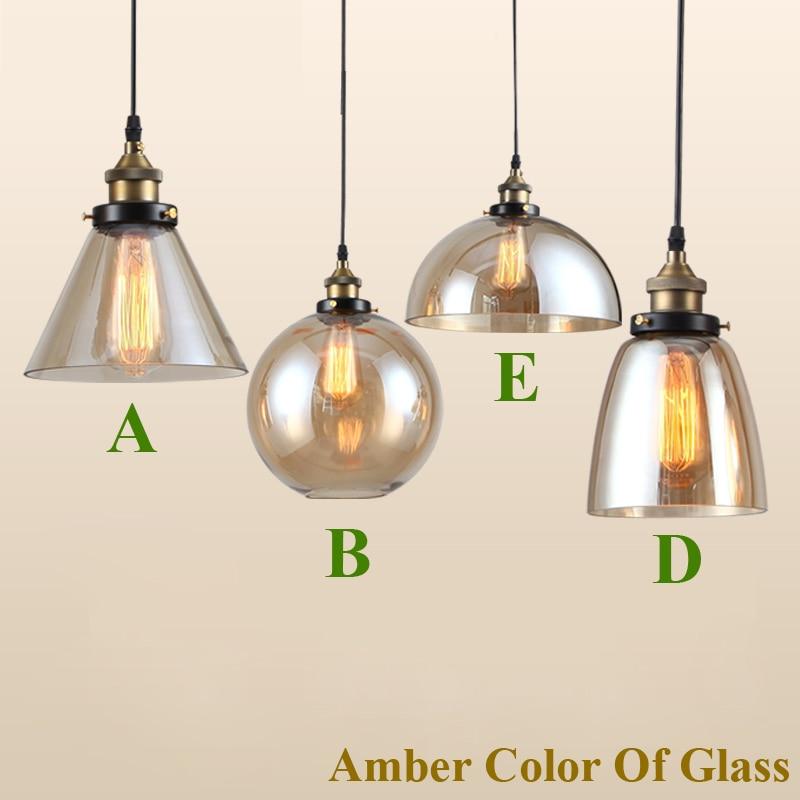 Dritat moderne me varëse xhami industriale Edison varëse me llambë - Ndriçimit të brendshëm - Foto 2