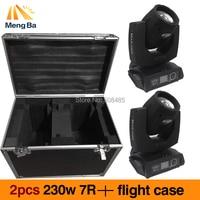 2pcs/lot +flight case 230w 7R Beam Light DMX512 Moving Head Light 17Gobos 16CH Stage Light DJ /Bar /Party /Show /Stage equipment