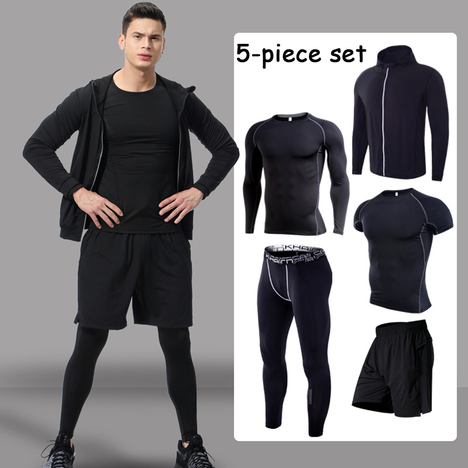 MMA Rashgaurd Mens T Shirt Bjj Boxing Shorts Compression Pants Fitness Sport Sets Base Layer Skin Fight Sportswear Gym clothing in Boxing Jerseys from Sports Entertainment