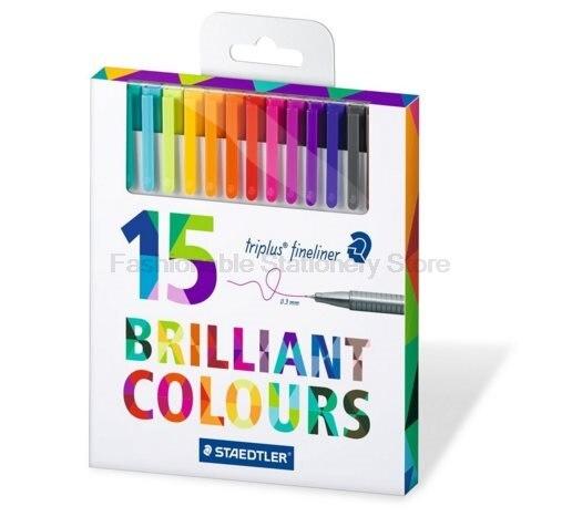 STAEDTLER 334 C15 15 color Art Marker Pens set 0.3mm Fine Draw Point art Marker Pen Water Based Ink No-tox design Creative set цена