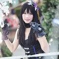 THE IDOLM@STER CINDERELLA GIRLS Rin Shibuya Cosplay Wig Long Black Halloween Christmas Party Wigs