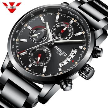 NIBOSI Watch Men Top Brand Men's Watches Chronograph Sports Waterproof Clock Men's Watches Military Luxury Men's Watches Fashion