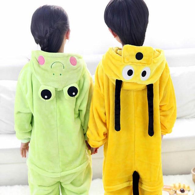 0b5e06cd1 Dog pajamas frog baby boys clothes warm sleepwear coral fleece ...