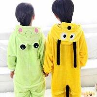 Dog Pajamas Frog Baby Boys Clothes Warm Sleepwear Coral Fleece Nightgown Pyjamas Perro Kids Cute Cartoon