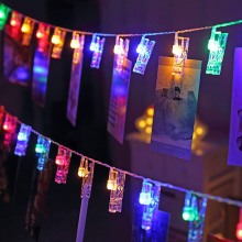 1,5 м 3 м 6 м фото клип держатель светодиодный струнные светильники с питанием от аккумулятора светодиодный гирлянда декоры для нового года Рождества свадьбы дня рождения гирлянда прищепки герлянда с прищепками