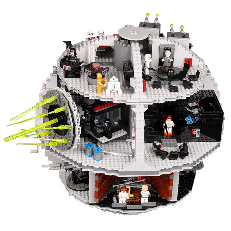 Lepin 3804pcs Star Set Wars Death Star Building Blocks Bricks Kits Toys for Boy Compatible with Legoing 75159 for Children Gifts lepin 05035 star series death wars 3804pcs building bricks toys kits compatible with legoinglys 10188 educational gift for boy