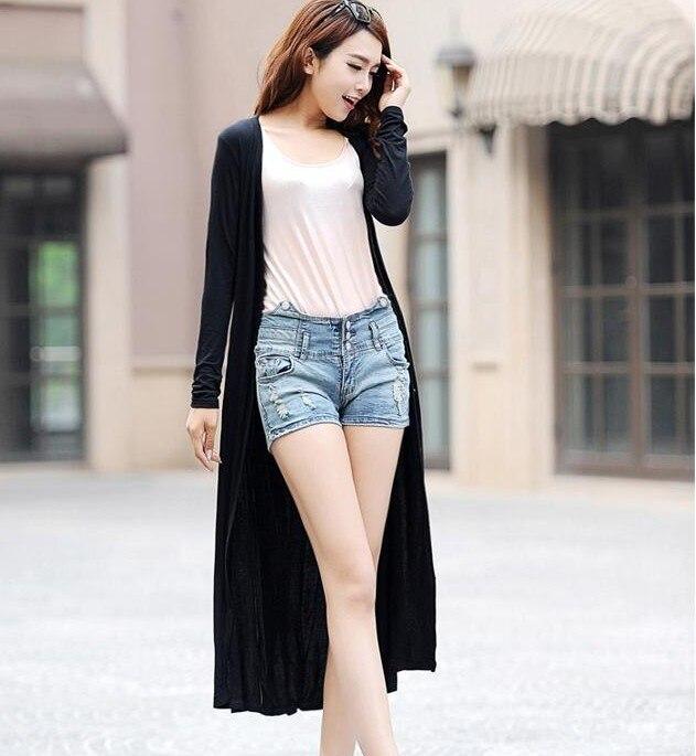 ALI shop ...  ... 32706541551 ... 3 ... 2019 Spring Thin Kimono Long Cardigan 12 Colors Modal Gilet Femme Manche Longue Women Outerwear Cardigans Coats Black Gray Coat ...