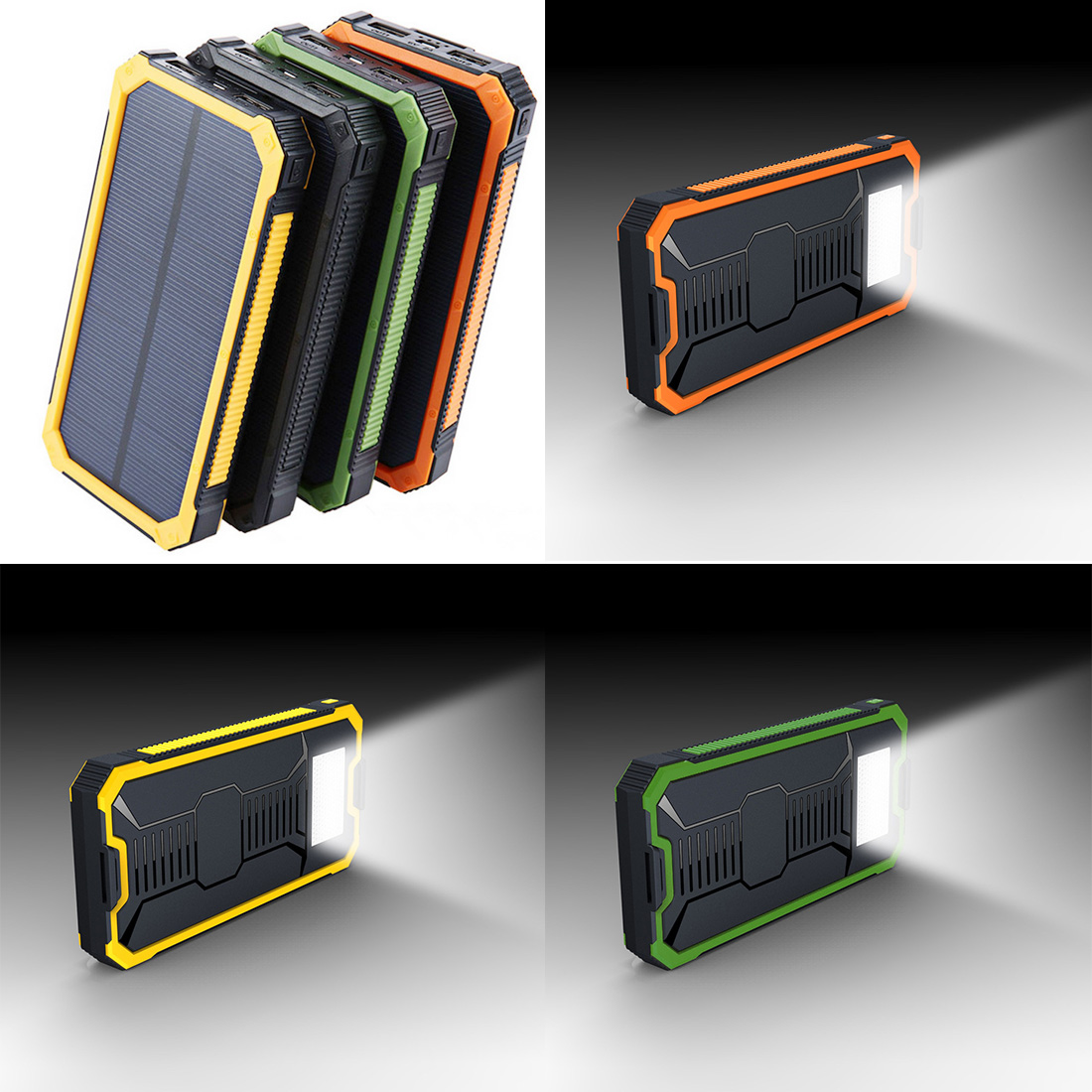 Multifunction Solar Mobile Power Supply Kit No Battery Led Solar Panel Charger Storage Box Dual USB 18650 Power Bank Case new solar panel 30000mah diy waterproof power bank 2 usb solar charger case external battery charger accessories