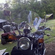 Универсальный Ясно мотоциклов лобовое стекло с Монтажный комплект Подходит для Honda Для Storm для Suzuki en для Haojue