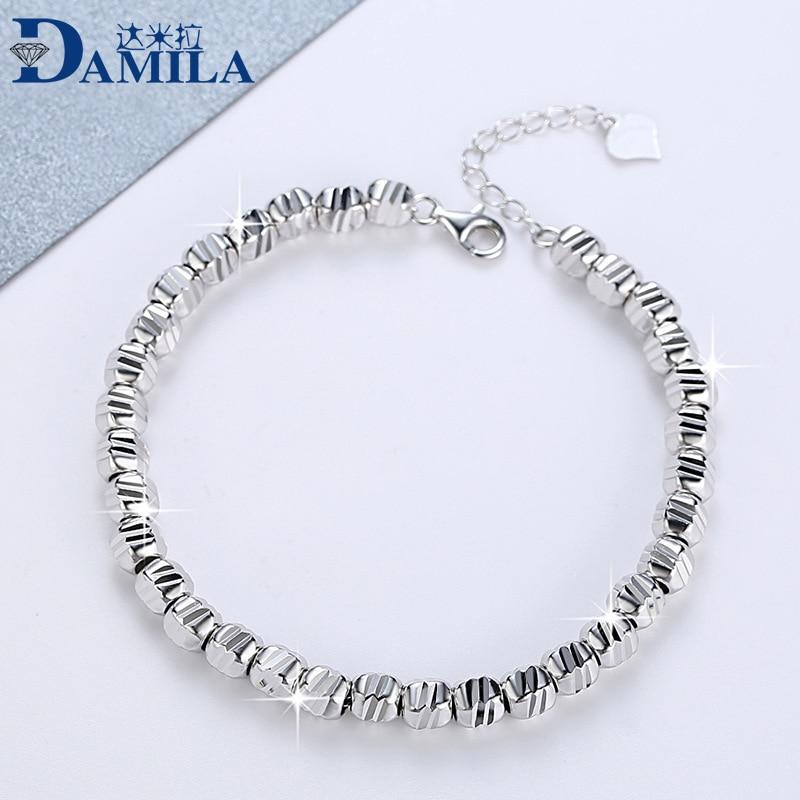 Mode 100% 925 Sterling Argent hommes de bracelets Bijoux S925 argent métal bracelets pulseras plata de ley 925