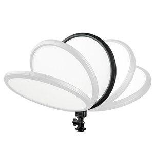 Image 4 - Viltrox Lámpara de luz LED para estudio de vídeo, VL 500T, 25W, delgado de doble Color, batería F550 regulable para foto de cámara, grabación de vídeos, YouTube