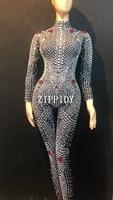 Модные блестящие стразы жемчуг женские боди леггинсы певица в ночном клубе шоу костюм наряд