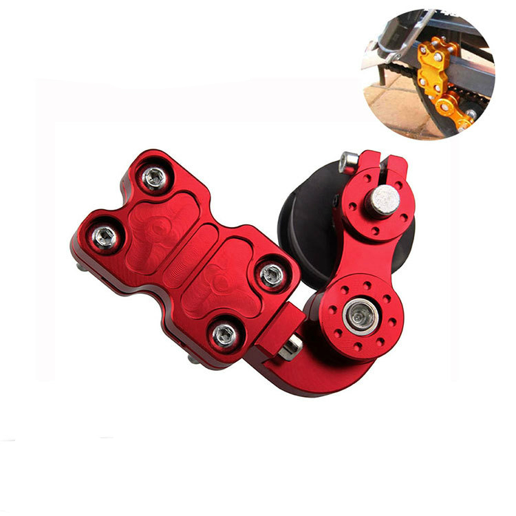 Universal Aluminum Adjuster Chain Tensioner Roller For Motorcycle /Chopper ATV Red Black Gold Silver.