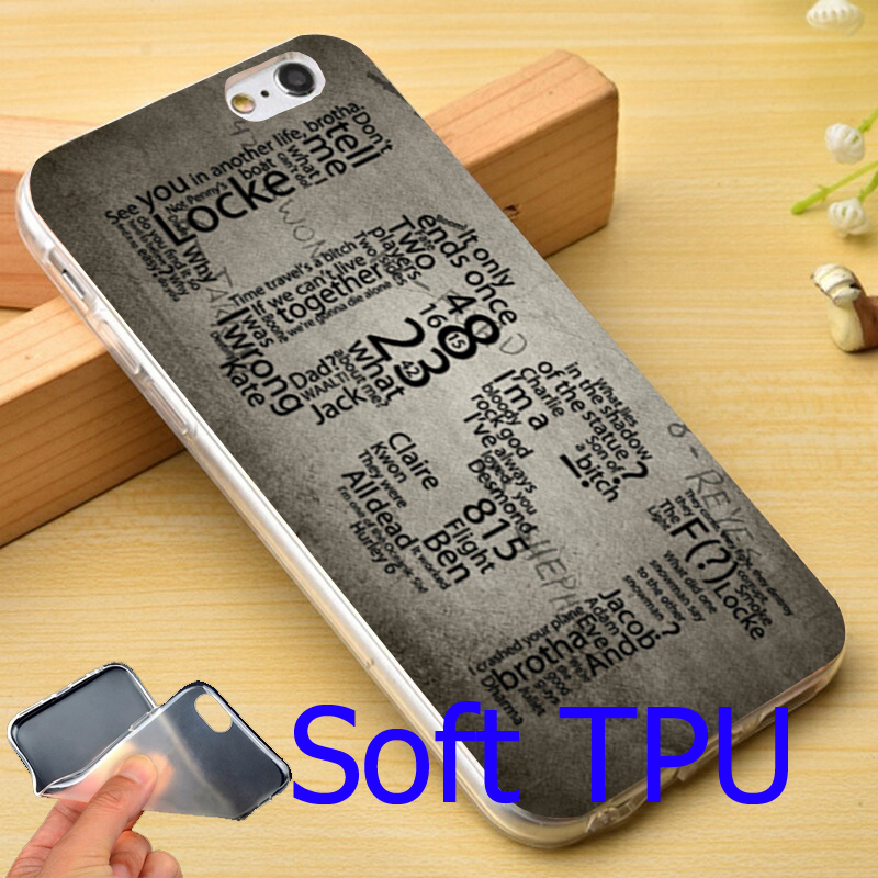 Tv Series Lost Soft TPU Phone Case for iPhone 4 4S 5C 5 SE 5S 6 6S 7 Plus Cover ( TPU / Plastic for Choice )
