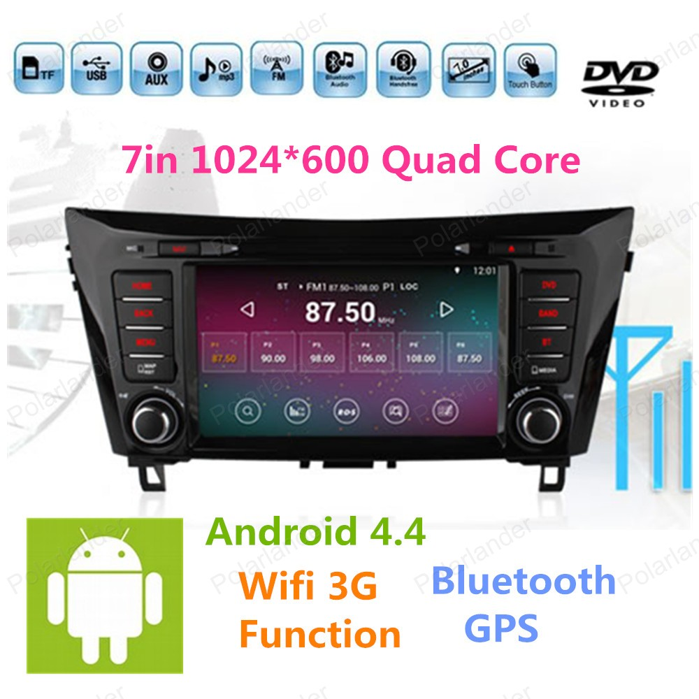 2 din Android 4 4 Car DVD player for Nissan Qashqai X Trail 2014 GPS Navi