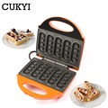 CUKYI Household mini 5 stick waffle maker Double sided heating for breakfast non stick electric cooking grilling machine 220V|mini waffle maker|waffle maker|mini waffle -