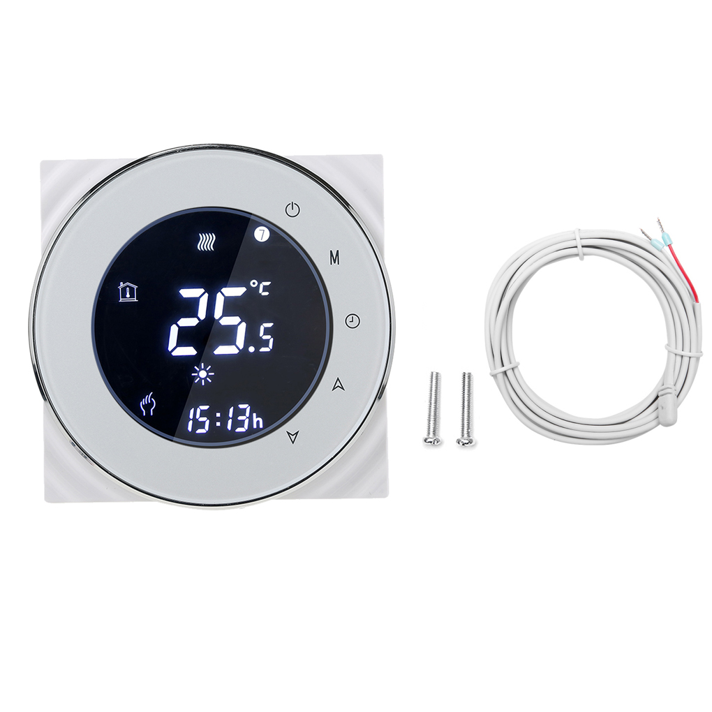 Negative LCD Touchscreen Electric Heating Thermostat NTC Temperature Controller for Modbus Communication dc 24v touchscreen programmable modbus boiler thermostat for on