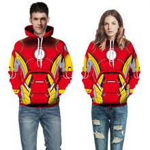 Fashion 3D Digital Print The Avengers Sweatshirt Couple Hooded Baseball Suit Long Sleeve Unisex Spring autumn