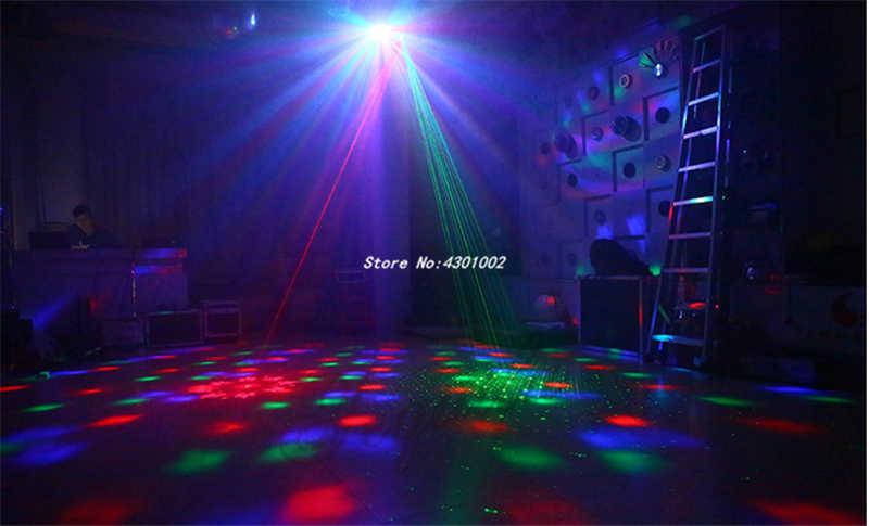4 в 1 светодиодный эффект лазерной вспышки гобо Строб бабочка прожектор Derby DMX512 диско-клуб Вечеринка бар света авто звуковой сценический световой эффект
