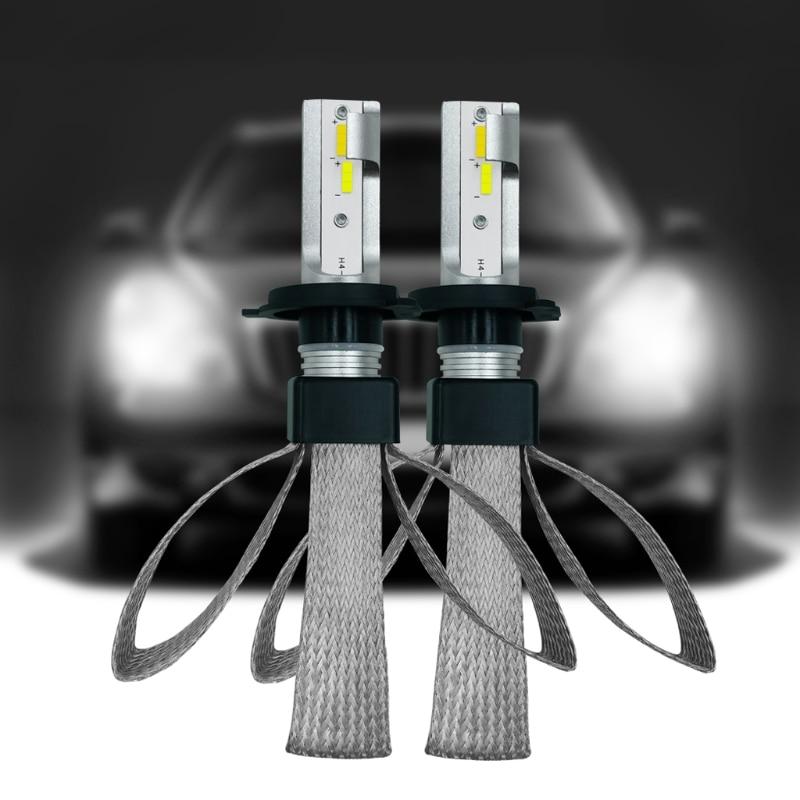 1 Pair High Performance H4 9003 H7 H8/H11 9005 9006 120W 20000LM LED Three-color Headlight Kit Beam Bulbs High Quality