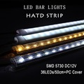 10pcs*50cm Factory Wholesale 50CM DC 12V 36 SMD 5730 LED Hard Rigid LED Strip Bar Light,red/blue,green color+ U Aluminium +Cover