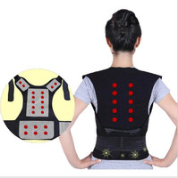 SCOLIOSIS POSTURE CORRECTOR LUMBAR SUPPORT BELT ROUND SHOULDER BACK BRACE DELUXE FREE SHIPPING