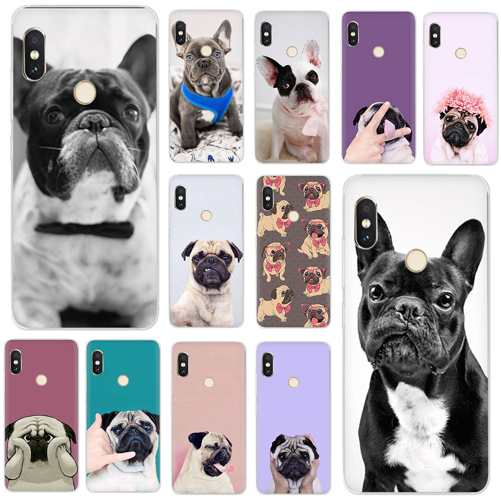 Puppy <font><b>Pug</b></font> Bunny French Bulldog Hard Phone <font><b>Cover</b></font> Case for <font><b>Xiaomi</b></font> <font><b>Mi</b></font> Mix 2S Max 3 F1 5S 6 8 9 SE <font><b>A2</b></font> Lite 6 A1 9T CC9e A3 pro image