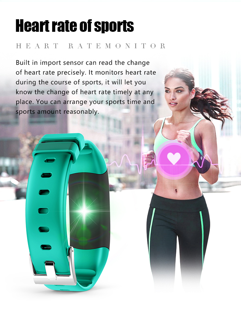 P7 Smart Wristband Bluetooth 4.0 Band Heart Rate Monitor Sport IP67 Waterproof OLED Smartband Bracelet For Android IOS Phone (12)