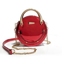 цены на New Fashion Laser Round Shaped Chain Shoulder Crossbody Bag Evening Mini Messenger Bag Women's Handbag Party bolsas feminina A5  в интернет-магазинах