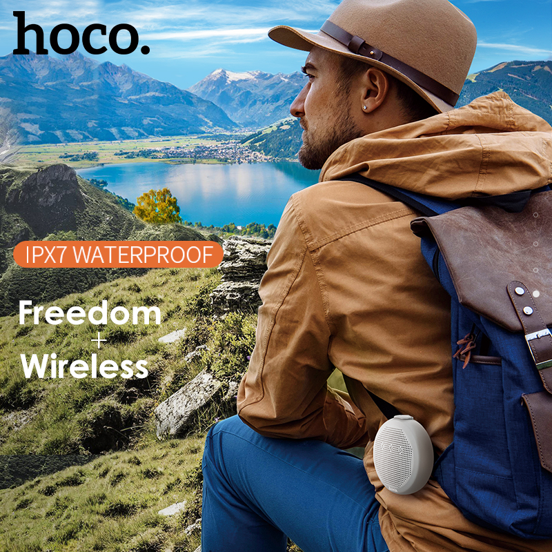 HOCO Mini 5W Stereo Wireless Bluetooth Speaker Super Bass IPX7 Waterproof Portable Outdoor Loudspeaker for iPhone Samsung Xiaomi karnotech® mini portable bluetooth hi fi super bass speaker white for iphone ipod ipad samsung galaxy