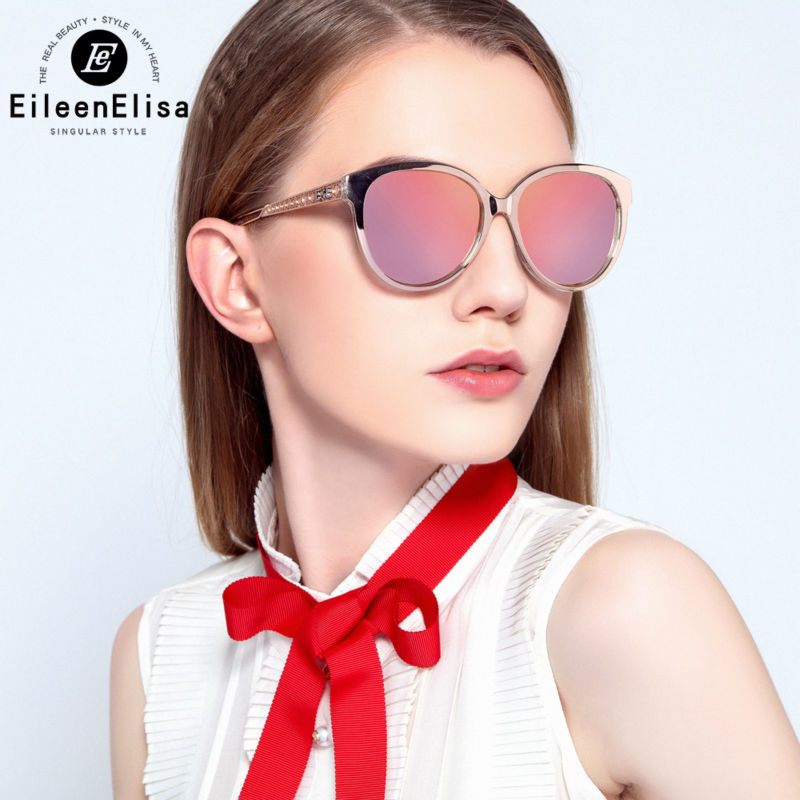 E&E Ladies Sunglasses Women Brand Designer Mirror Sunglasses Women Brand Designer Luxury Cat Eye Sunglasses