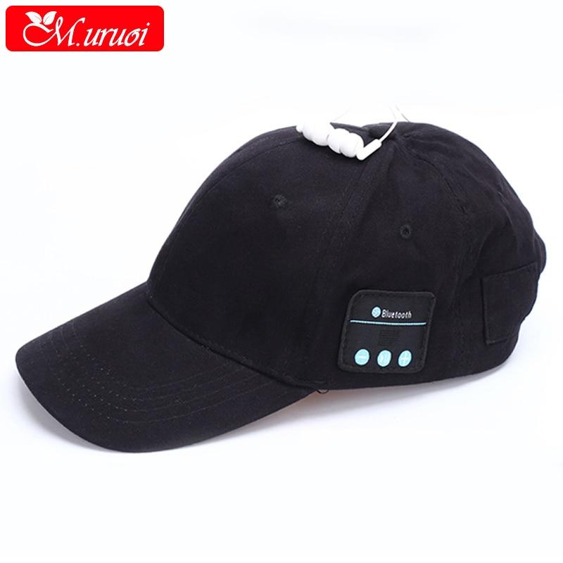 M.uruoi Bluetooth Hat Wireless Baseball Cap Outdoor Sport Earphone For MP3 Player Handsfree For iphone Xiaomi Bluetooth Headset original ldnio wireless bluetooth sport headset with 2 4a car charger 2 in 1 earphone for samsung xiaomi iphone mp3 mp4 player