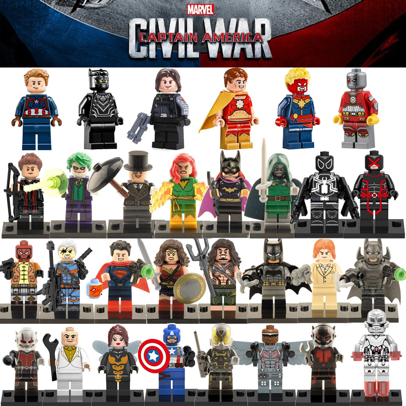 Dc marvel captain america 3 action toy figures the avengers minifigures building...