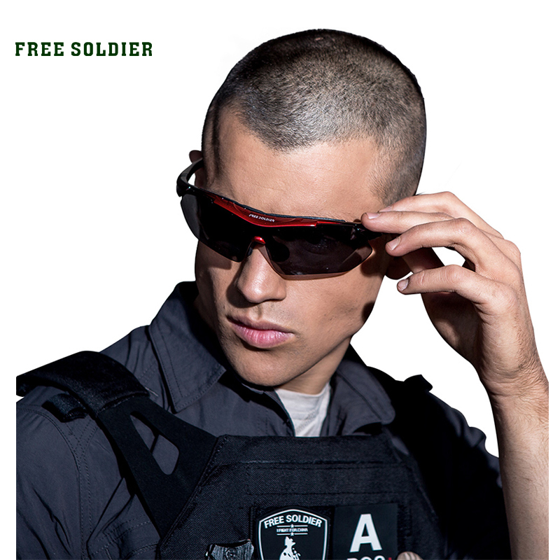 FREE SOLDIER Outdoor Sports Tactical Polarized Glass Men's Shooting Glasses Airsoft Glasses Myopia For Camping free soldier eod decorative rubber velcro armband black white