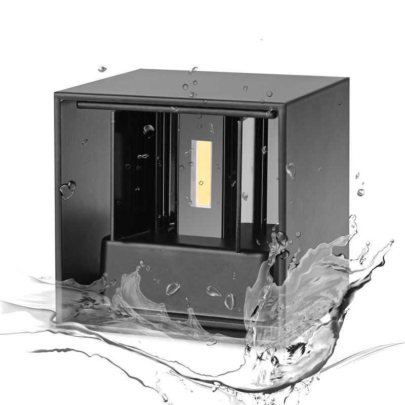 Современный короткий куб Регулируемый поверхностный монтаж светодиодный настенный светильник Открытый водонепроницаемый IP65 Алюминиевый настенный светильник вверх вниз садовые огни