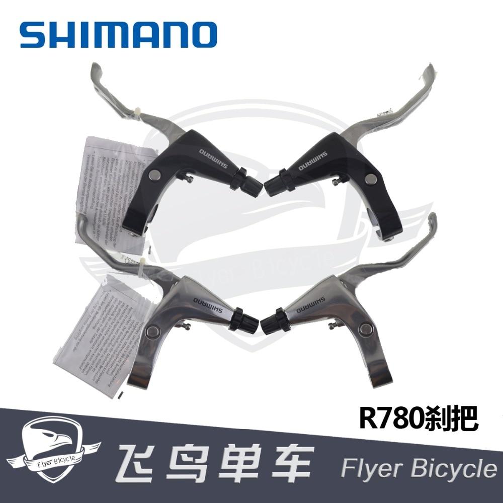 Shimano R780 levier de frein vélo pliant vélo de route poignée plate levier de frein V pince C pince levier de frein argent noir
