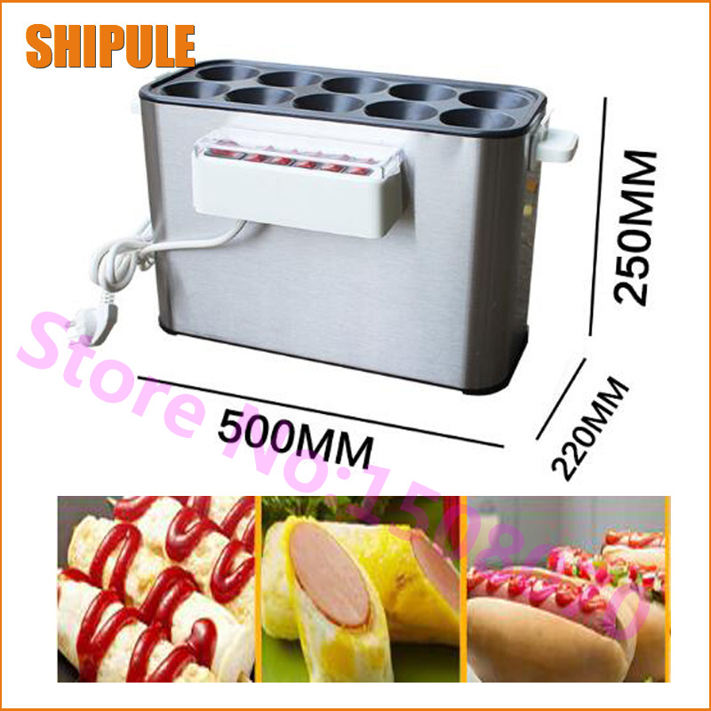 Hot SHIPULE 2017 best selling electric 10 pieces intestinal egg maker machine , commercial egg hot dog machine scales vending machine weight and height machine best selling china factory
