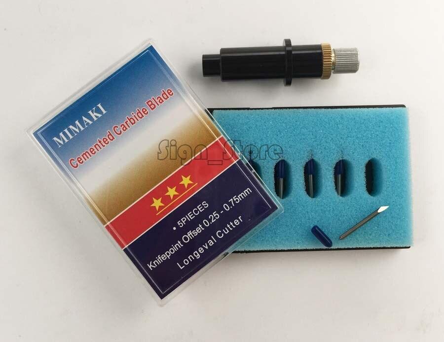 Mimaki Cutting Plotter Printer Blade Holder + 5pcs 45 + 5pcs 60 degree Vinyl Cutter Blades Knife стабилизатор напряжения эра sta w 8000