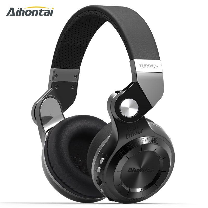 ФОТО Original Bluedio T2+ Wireless Bluetooth 4.1 Stereo Headphone Headset Earphone Foldable Stretchable Support TF Card FM For Music