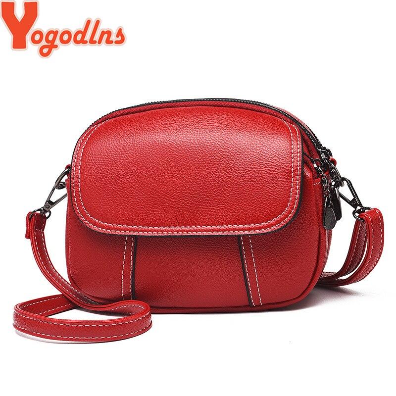 Yogodlns PU Leather Women Shoulder Bag Female Purse And Handbags Girl Children Mini Crossbody Bag Vintage Small Mini Flap Bolsos