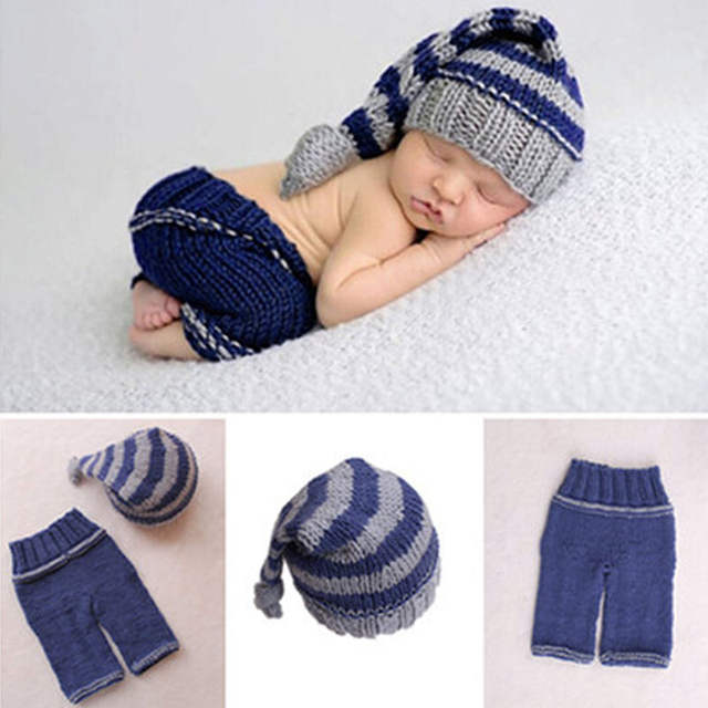 cd2c7a665 US $4.24 18% OFF|New 1Pc Newborn Baby Girls Boys Soft Crochet Knit Costume  Photo Photography Prop Outfits-in Hats & Caps from Mother & Kids on ...