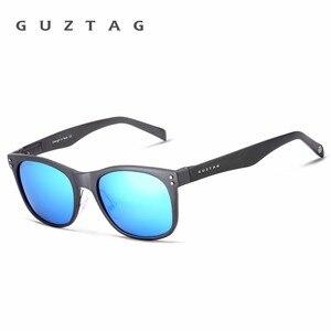 Image 2 - GUZTAG Sunglasses Aluminum Square Men/Women Polarized Mirror UV400 Sun Glasses Eyewear Sunglasses For Men oculos de sol G9201