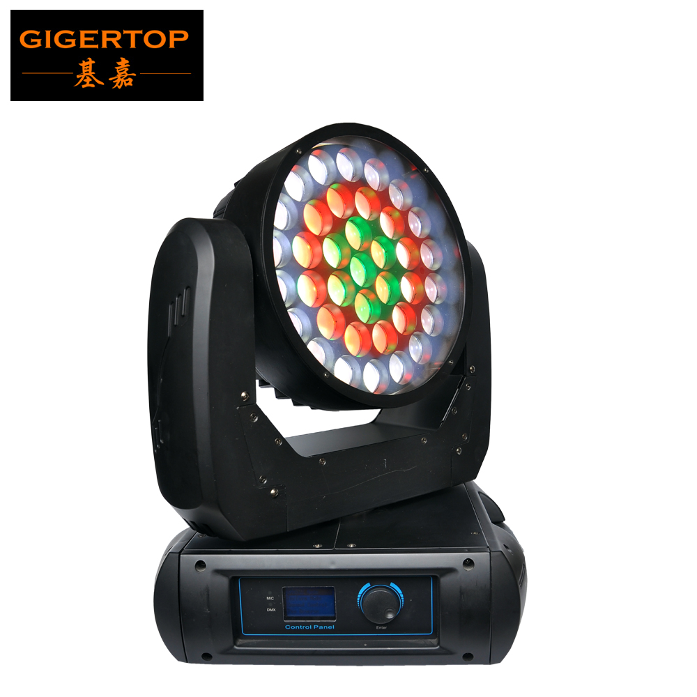 Manufacturer Direct Sell 37x12W Cree RGBW 4IN1 Led Moving Head Wash Zoom Light 500W DMX512 Control 22 Channels Super Smooth Wash