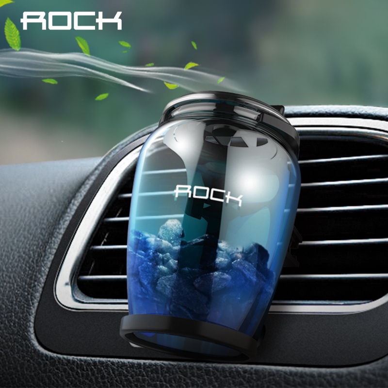 ROCK Universal Aromatherapy Car Holder Car Air Purifier Freshener Car Holder Car Air Vent Luxury Zeolite Fragrance Holder