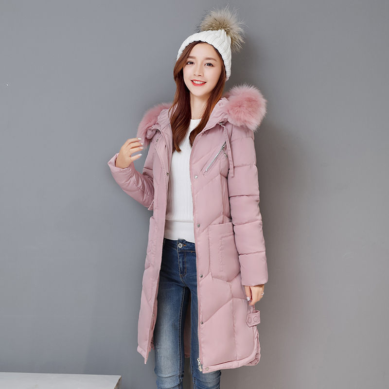 2017New Winter Fashion Cotton Coat Female Slim Warm Hooded Parkas Female Overcoat High Quality Glooves Women Cottonpadded Jacket 2017 new winter fashion cotton coat female slim warm hooded parkas female overcoat high quality women cotton padded long jacket