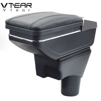 Vtear For Nissan Sunny/Versa armrest box PU Leather central Store content box cup holder car styling accessories parts 11 16