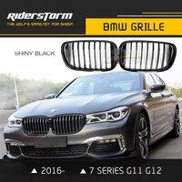 Для нового Bmw 7 серии G11 G12 спереди Гриль Замена ноздри 2016 2017 730i 740i 740e 730d Racing сетки переднего бампера