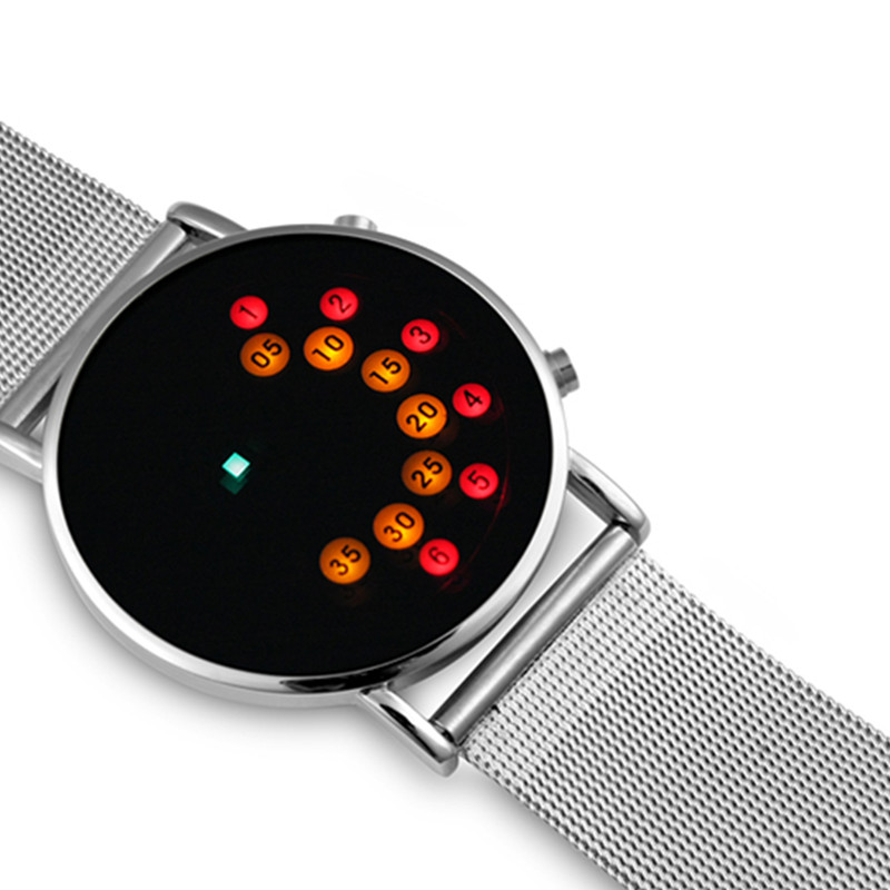 b063fb20c91 LED שעון דיגיטלי מגניב אופנה גברים שעוני יוקרה רשת Masculino Relojes זכר  דיגיטלי שעת שעון בינארי שעונים Montre Homme ב-LED שעון דיגיטלי מגניב אופנה  גברים ...