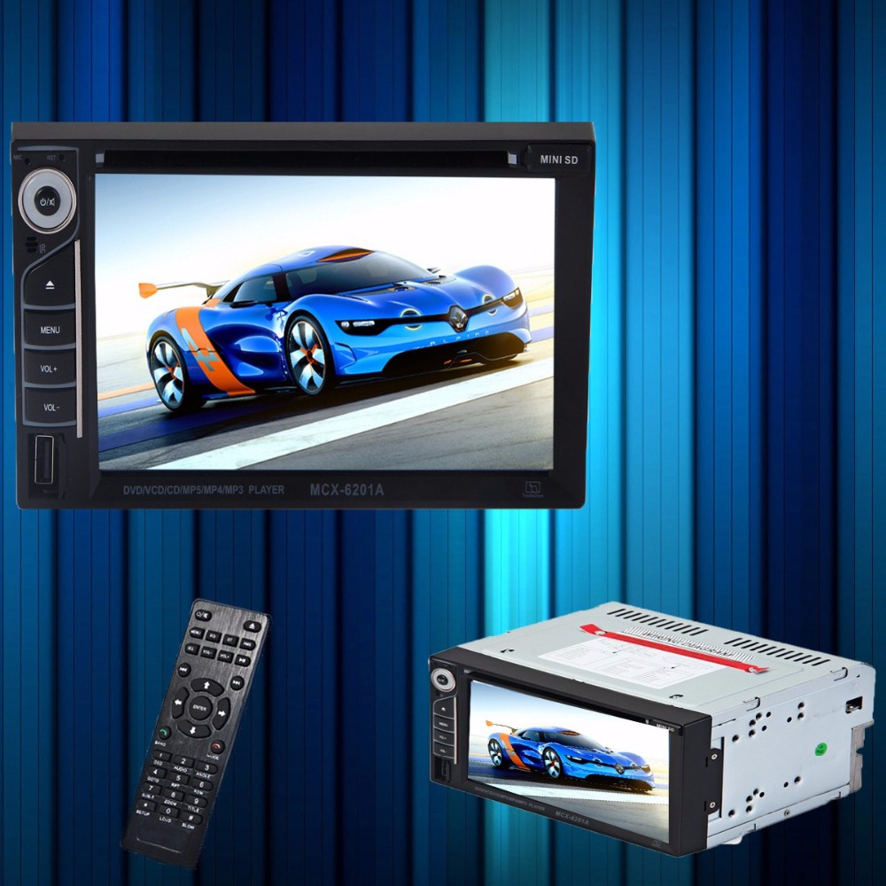 6.2 inch Touch Screen Double Din Car Audio Video Navigation DVD MP3/4/5 Support Bluetooth Disc SD Playing with Remote Control