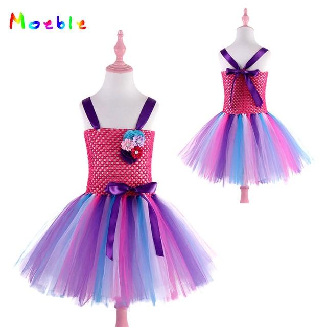 439037598506 Flowers Rainbow Dress Elegant Kids Unicorn Party Dresses for Girls ...
